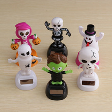 1 Pc Solar Powered Dancing Halloween Swinging Animated Bobble Dancer Toy Car Home Decor(China)