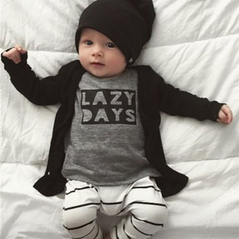 2016 New Fashion Baby Clothing Sets Pullover T-short+Pant Age For 0-2 Years Unisex Boys Girls Clothes set <br><br>Aliexpress