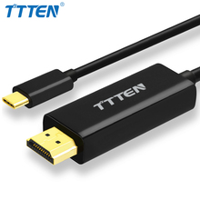 TTTEN 1.8M USB 3.1 Type C to HDMI Cable USB Type C Male to HDMI Male 4K Cable For MacBook Pro Huawei MateBook ChromeBook Laptop(China)