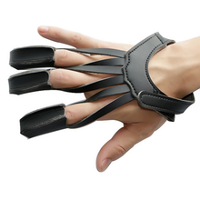 Ourpgone Dropship New Archery Hunting Glove 3 Finger Guard New Black Leather Bow Protect Glove Shooting Glove New Hunting Glove!(China)