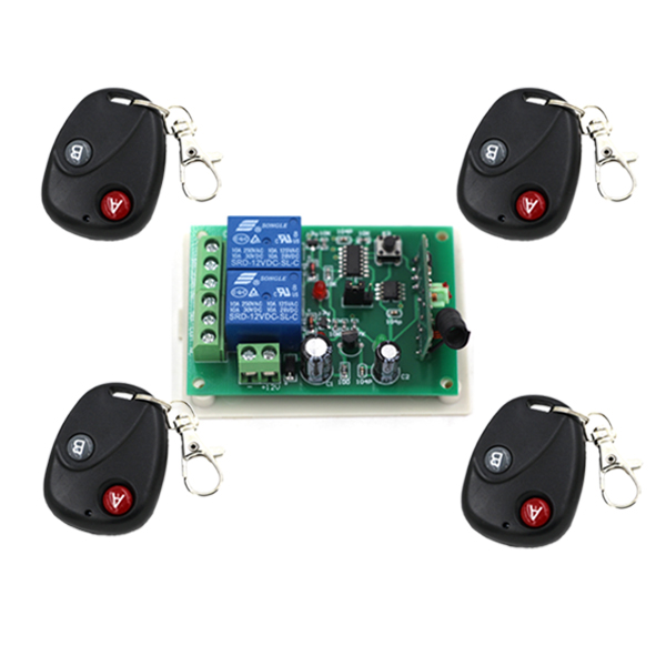 12V 2CH RF Wireless Remote Control Switch System Receiver &amp; Transmitter Learning code Toggle Momentary SKU:5003<br><br>Aliexpress