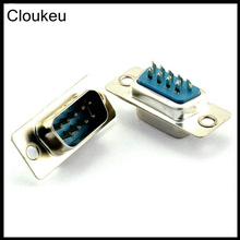 Cloukeu 5Pcs DB9 pin Male Welded Connector RS232 serial port DB9 adapter