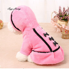 1 PC Pet Clothes For Small Dogs Cats XXS-L Dog Coat Jacket Pet Supplies Clothes Winter Apparel Puppy Costume Bowknot D19