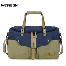 Large Capacity Canvas Sport Training Gym Bag Unisex Fitness Bags Durable Multifunction Handbag Outdoor Sporting Tote Bag(China)