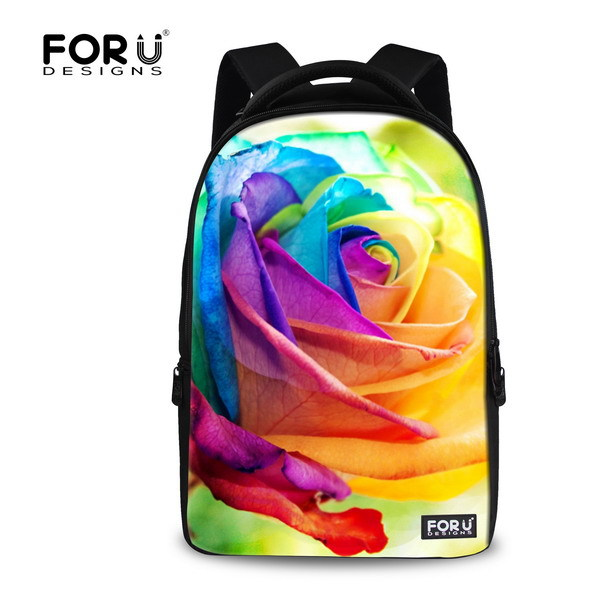 Fresh Style Laptop Backpack 15.6 inch Floral Print Computer Backpacks Multi-fuctional Women Girls Casual Travel Backpacks<br>