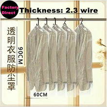 Free shipping New 10PCS/Lot dust cover suit bag garment bags clear color for prevent dust(China)