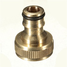 5pcs 3/4 BSP standard thread brass tap connector Solid Brass Threaded Tap Garden Hose Connect Adaptor Tap Snap Fitting Pipe