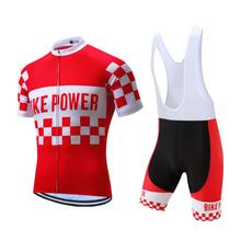 Red Bike Power Sports Cycling Jersey Design Breathable Cycling Clothing Jersey
