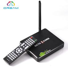 Free Ship HIGH HD CSA90 2g 16g Andriod 5.1 Smart TV Box Remote Control Octa Core RK3368 4K 2.0