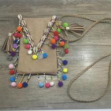 2017 New personalized handmade popular jewelry supplier bag pendents unique boho Necklaces shell for women