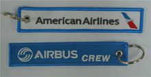 American Airlines Airbus Crew Embroidery Keychain Keyring Key Ring Key Chain Key FOB Embroidered Key Chain 13 x 2.8cm 100pcs lot