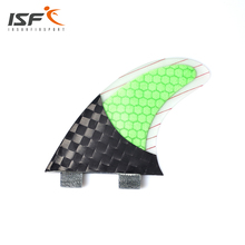 New Product Straight Carbonfiber Square Half Carbon Surf Fins Thruster Fin Set (3) FCS G5