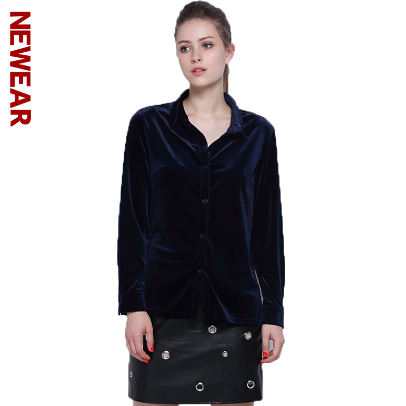 Online Get Cheap Womens Navy Blue Collared Shirt -Aliexpress.com ...
