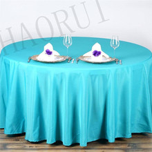10pcs Polyester Cotton Fabric Linen Modern 90'' Round Turquoise Dining Luxury Tablecloths Set for Weddings Party FREE SHIPPING