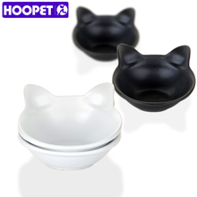 HOOPET Cat ears ceramic bowl two bowls in one paking dog teddy bear water birdbath cat rice basin pet products