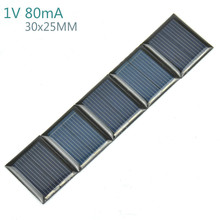 50Pcs Mini Solar Panels 1V 80mA 30*25MM Solar Cells For DIY Scientific Experiment