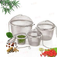 Durable Tea Filter Infuser Spice 4 Sizes Silver Reusable Stainless Mesh Herbal Ball Tea Spice Strainer