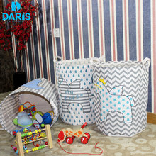 DARIS Designer Cute Toy Kids Laundry Bag Basket Children Laundry Storage Box Bin Organizer Foldable Laundry Basket Hamper Baby(China)