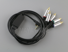Color Cord Video and Audio Cable Component AV Cable /Game Cable for PSP 2000 3000 PSP2 PSP3 9141. 10PCS/LOT