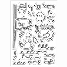 Coolhoo Little bird owl  Clear Stamp DIY Silicone Seals Scrapbooking Photo Album Decoration Supplies