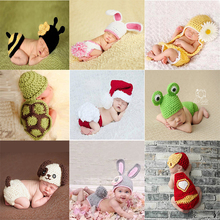 Soft Newborn Baby Photography Props Baby Hat Baby Cap Baby Girl/Boy Christmas Clothes Crochet Outfits Accessories Toddler Infant(China)