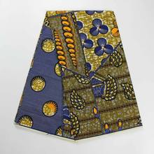 YBGHA-221 African Textile supplier quality 6 yards wax ankara fabric 100% cotton printing african fabrics