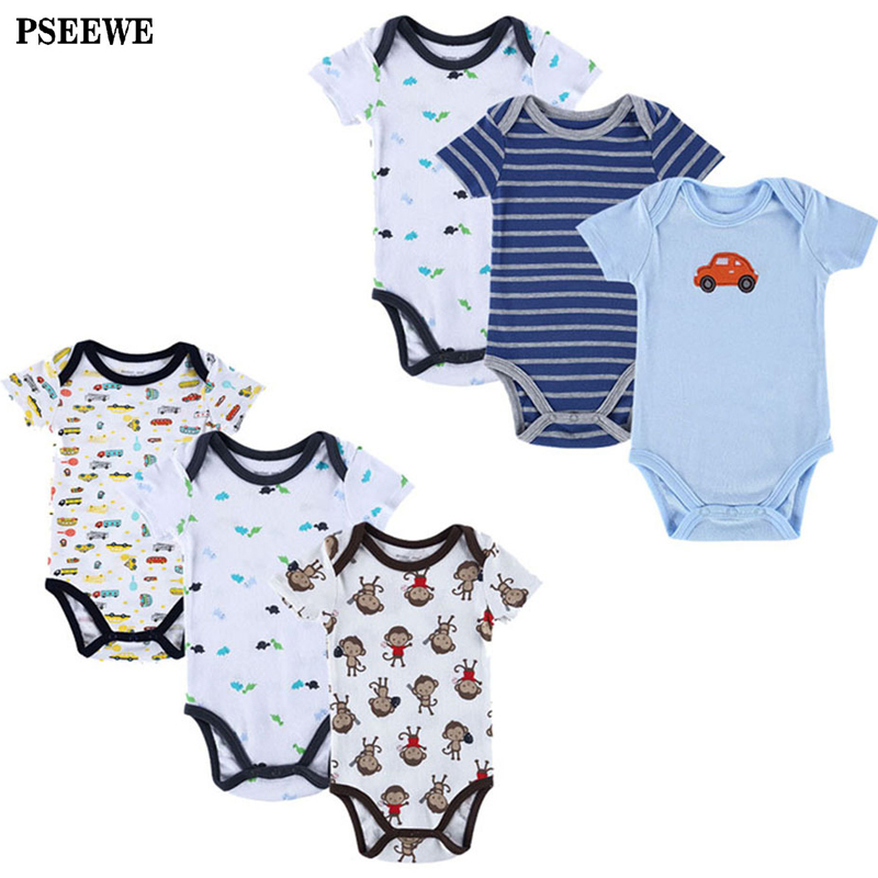 6 Pieces/Lot Mother Nest Infant Jumpsuit Newborn Baby Bodysuit Baby Boy Summer Body Baby Girl Next New Born Baby Clothes Babies <br><br>Aliexpress