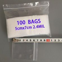 100pcs 5x7cm CLEAR SMALL ZIP LOCK PLASTIC BAG ZIPPER ZIPLOCK RESEALABLE JEWELRY PACKAGING BAGS GIFT POUCH MINI BAGGIE