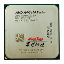 AMD A4-Series A4-3400 A4 3400  2.7 GHz dual-core CPU Processor AD3400OJZ22GX Socket FM1