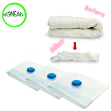 1pcs High Quality 60x50cm Vacuum Bag Space Saver Saving Storage Vacuum Seal Compressed Organizer Bag(China)