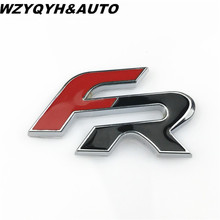 6.4cm*3.5cm FR Metal Car stickers for Seat Leon 2 FR+ Cupra Ibiza Altea Exeo Formula Racing Car Accessories Car Styling(China)