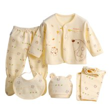 Buy 100% Cotton Hot Soft Newborn Baby Clothing 5 Pcs Set Brand Baby Boy/Girl Clothes Cartoon Underwear 0-3Month for $5.21 in AliExpress store