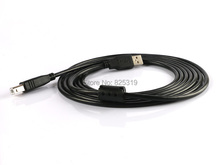 5m USB 2.0 High Speed Cable Printer Lead A to B Long Black Shielded