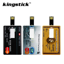 Kingstick 4gb 8gb 16gb 32gb 64gb usb 2.0 bank card pen drive credit card model memory usb flash drive pendrive thumbdrive