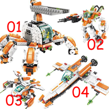 Combat robots, helicopters, guards, Star Wars destroyers, fighter planes Blocks Set Compatible with legoe Kids Model Building(China)