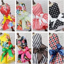 Fashion Pet Dog Dress Cute Printed Dog Puppy Princess Tutu Dress Wedding Full Dresses Small Dog Clothes Summer Vest Shirt Skirt(China)