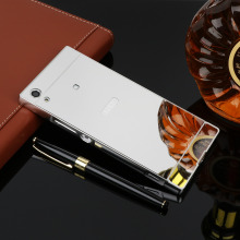 Buy Metal Mirror Case Sony Xperia XZS XZ Premium XA1 Ultra XZ1 compact Mini Aluminum Metal Frame+ Acrylic Protective Back Cover for $2.54 in AliExpress store