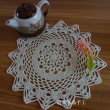 6 pic/lot 100% natural cotton crochet lace doily for house hold innovative item USA fashion style fabric doilies tableware mats