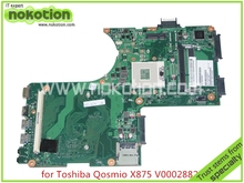 V000288280 Brand  Laptop motherboard for toshiba Qosmio X870 X875 6050A2493501-MB-A02 HM76 HD4000 DDR3 with graphics slot