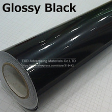 10/20/30/40/50/60x152CM Glossy Black Vinyl Car Decal Wrap Sticker Black Gloss Film Wrap Retail For HOOD Roof Motorcycle Scooter