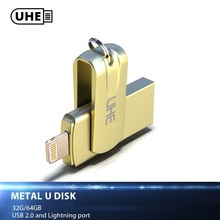 Buy UHE USB Flash Drive iPhone 8 7 Plus iPad Lightning Flash Drive 32GB 64GB USB 2.0 Pen Drive Pendrive Memory Stick PC for $29.01 in AliExpress store