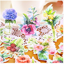 15pcs Creative kawaii self-made flowers stickers beautiful stickers /decorative sticker /DIY craft photo albums(China)