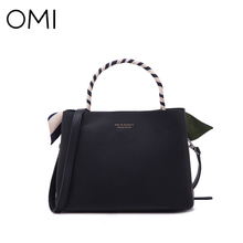 OMI Women's handbags Women's bag Female's handbag famous designer brand bags luxury designer leather shoulder bags Fashion Tote(China)
