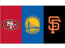 3x5 ft San Francisco 49ers VS Golden State Warriors VS SF Giants banner with metal grommets