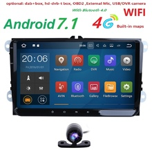android7.1 car dvd gps navigation for skoda VW volkswagen amarok beetle bora caddy CC EOS jetta polo rabbit sharan gps 2GRAM CAM(China)