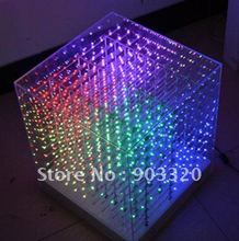 NEW SMD 0805 3in1 3D LED Cube Light,3D Cube Light for Advertising,DJ party Show,LED Display,SD CUBE LGIHT