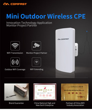 4PCS COMFAST 5.8ghz 300mbs mini wireless bridge outdoor CPE wifi router for ip camera project 1-2km wiif amplifier CF-E120A(China)