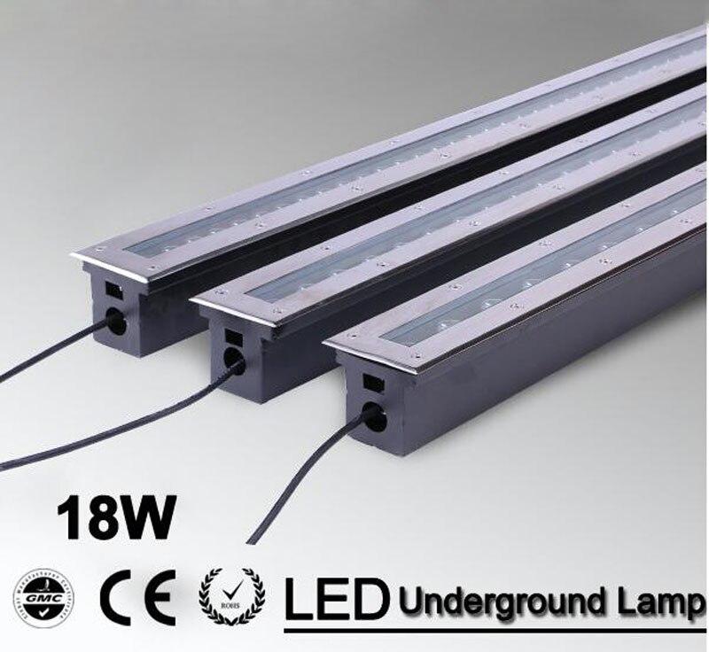 2pcs/lot 18w Warm white/RGB/Led floor lamp high power underground buried light  led ground lighting CE IP68 waterproof AC85-265V<br><br>Aliexpress