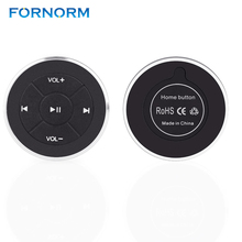 Buy FORNORM Wireless Bluetooth Remote Control Media Button Car Steering Wheel Motorcycle Bike Handlebar iPhone 7 6 Samsung for $9.99 in AliExpress store