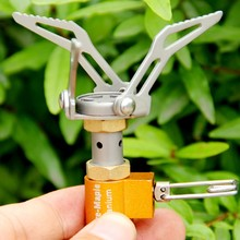 Super Lightweight Mini Titanium Stove with Bag Carry for Outdoor Camping Picnic